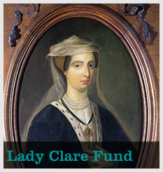 Lady Clare Portrait with text 'Lady Clare Fund'