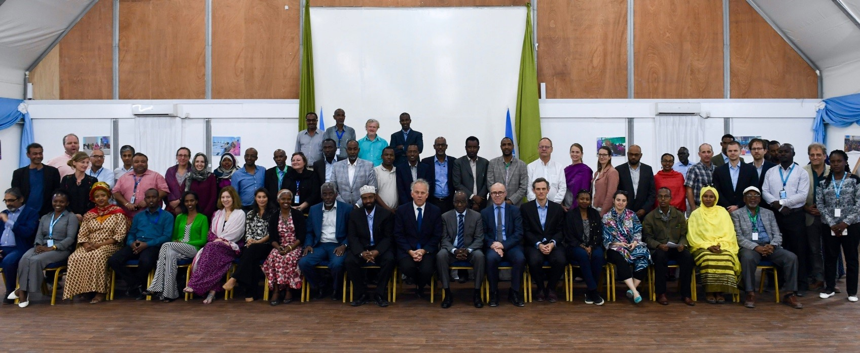 Mett Waldman, Eric Lane Fellow, chairing a United Nations Colloquium on Peace and Reconciliation in Somalia