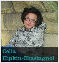 Photo of Celia Hipkin-Chastagnol with text of her name