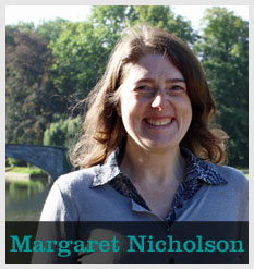 Photo of Margaret Nicholson with text of her name